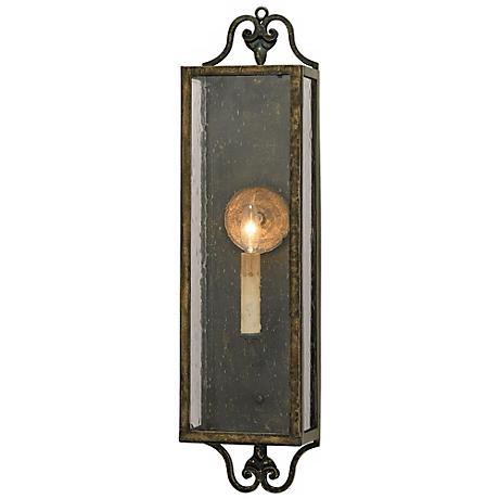 """Currey and Company Wolverton 24"""" High Plug-In Wall Sconce"""