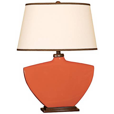 Splash Collection Coral Curved Ceramic Table Lamp