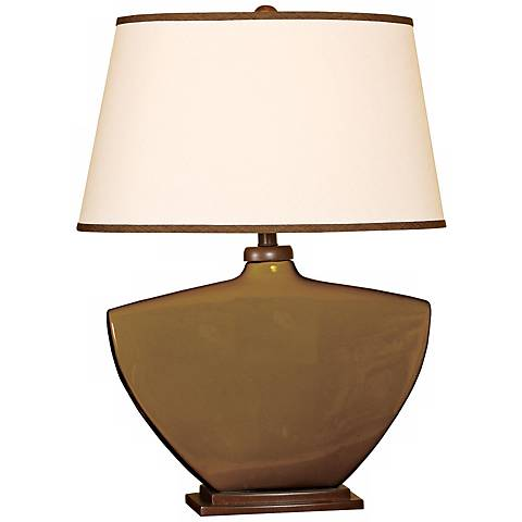 Splash Collection Espresso Curved Ceramic Table Lamp
