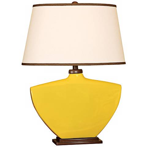Splash Collection Mimosa Curved Ceramic Table Lamp