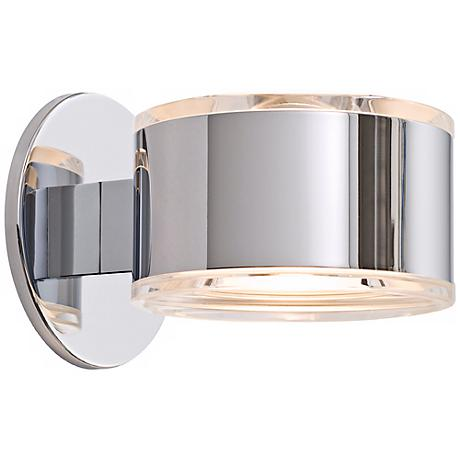 "Holtkoetter Up-Down 5 1/4"" Wide Chrome Finish Wall Sconce"