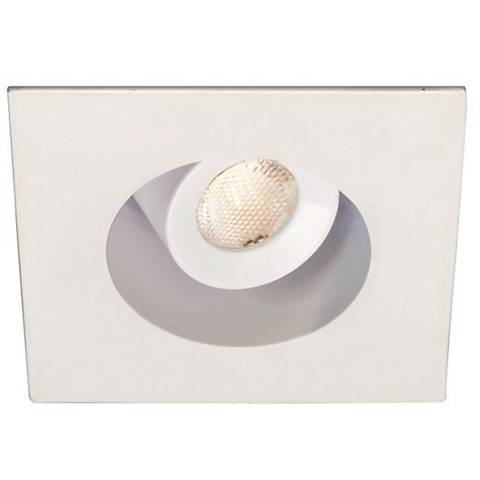 "2"" WAC Square White 4W LED New-IC Complete Recessed Kit"