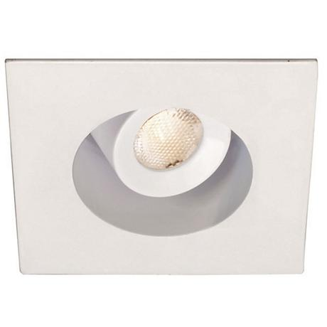 """2"""" WAC Square White 4W LED New-IC Complete Recessed Kit"""