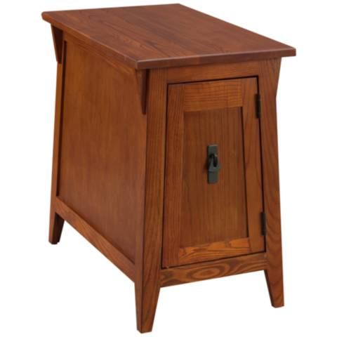 Leick Furniture Russet Finish Mission End Table P5217 Lamps Plus
