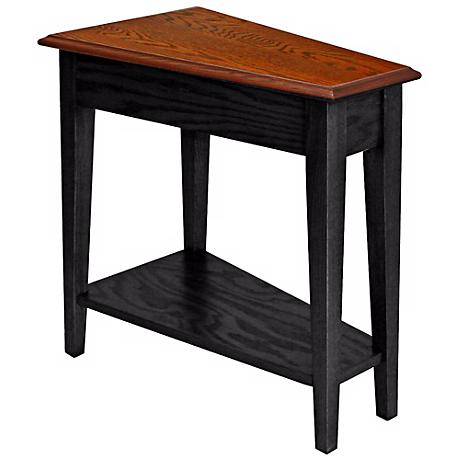 Leick Furniture Slate Finish Wedge Accent Table