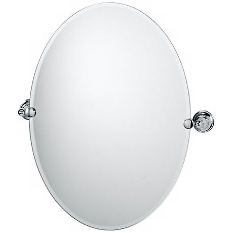 """Gatco Tiara Chrome 26"""" 1/2 High Oval Mirror"""