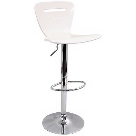 H2 Adjustable Height Counter or White Bar Stool