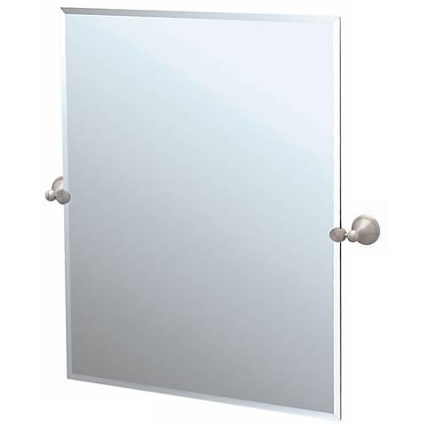 "Gatco Laurel Avenue Nickel 31 1/2"" High Tilt Wall Mirror"
