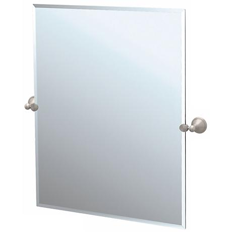 "Gatco Laurel Avenue Nickel 31 1/2"" High Tilt Wall Mirror"