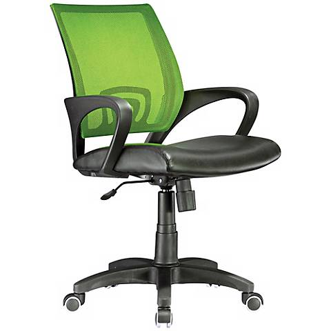 Officer Lime Green and Black Adjustable Office Chair