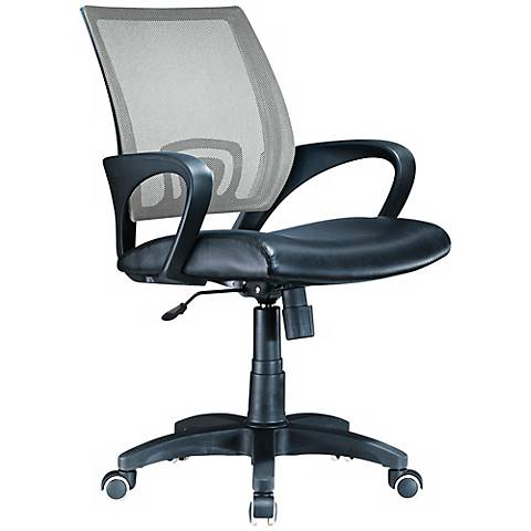 Officer Silver and Black Adjustable Office Chair