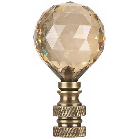 Swarovski Champagne Crystal Ball Lamp Shade Finial