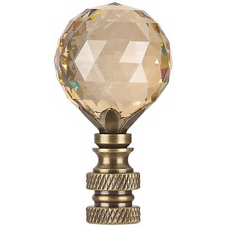 Swarovski Champagne Crystal Ball Lamp Shade Finial