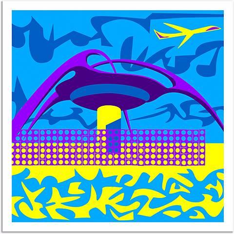 LA Jet Plane Wall Art