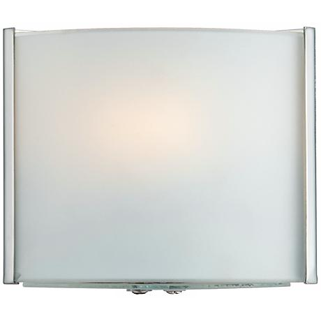 """Possini Euro Frosted Glass Bands 4 1/2"""" High Wall Sconce"""
