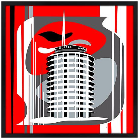 Hollywood Records Red Wall Art