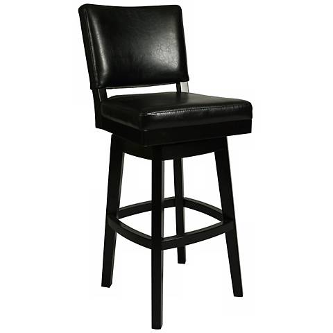 "Impacterra Richfield Black Swivel 26"" High Counter Stool"