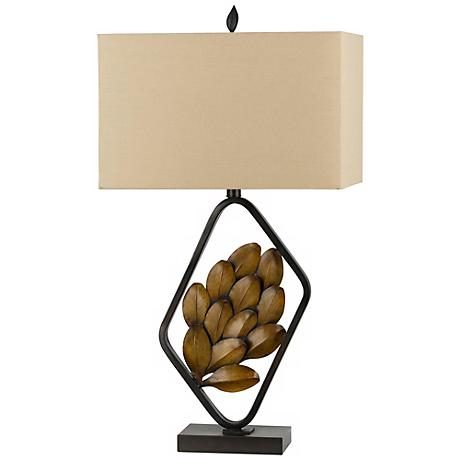 Sarzana Autumn Leaf Metal Table Lamp