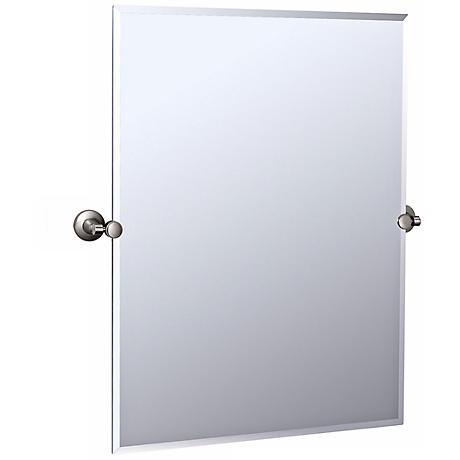 "Gatco Max Satin Nickel 31 1/2"" HIgh Wall Mirror"