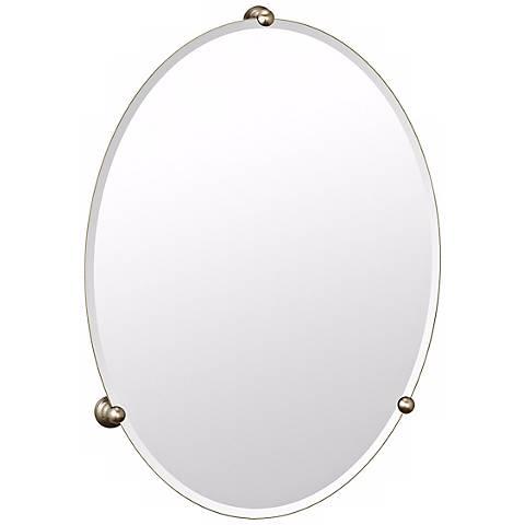 Gatco Oldenburg Satin Nickel Finish Oval Wall Mirror