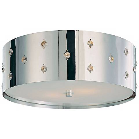 "George Kovacs Bling Bling 14"" Wide Flushmount Ceiling Light"