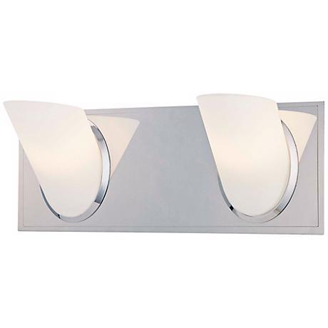 """George Kovacs Angle 13"""" Wide Bathroom Wall Light"""