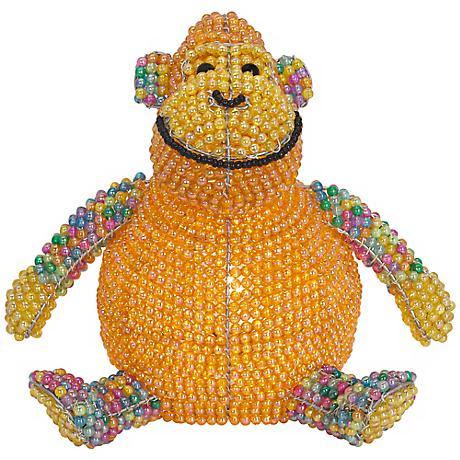 Beadworx Monkey Hand-Crafted Beaded Night Light