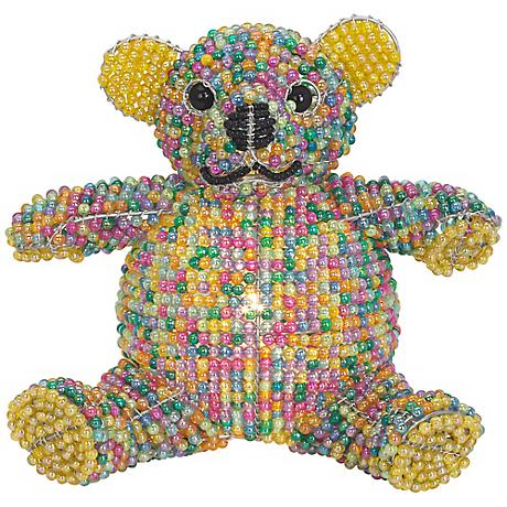 Beadworx Teddy Bear Hand-Crafted Beaded Night Light