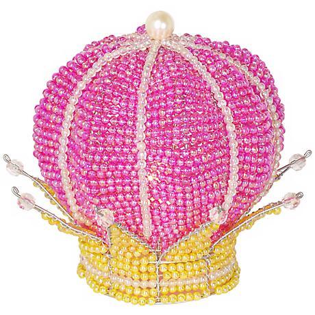 Beadworx Princess Crown Hand-Crafted Beaded Night Light
