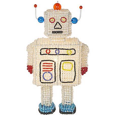 Beadworx Robot Hand-Crafted Beaded Night Light
