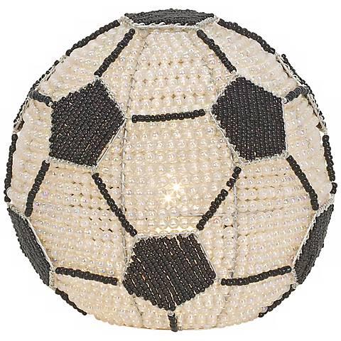 Beadworx Soccer Ball Hand-Crafted Beaded Night Light