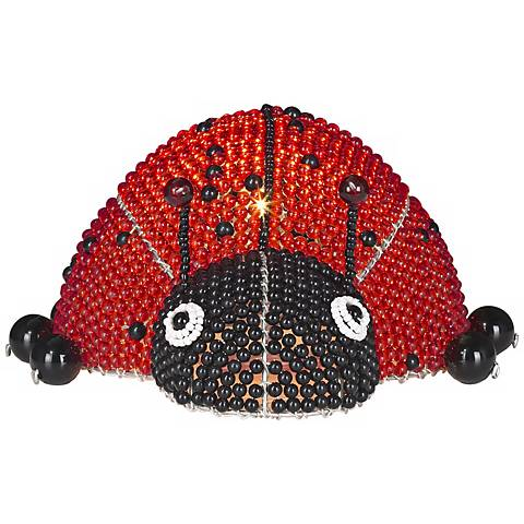Beadworx Lady Bug Hand-Crafted Beaded Night Light