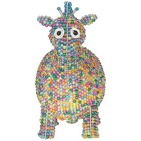 "Beadworx 6 1/2""H Giraffe Hand-Crafted Beaded Night Light"