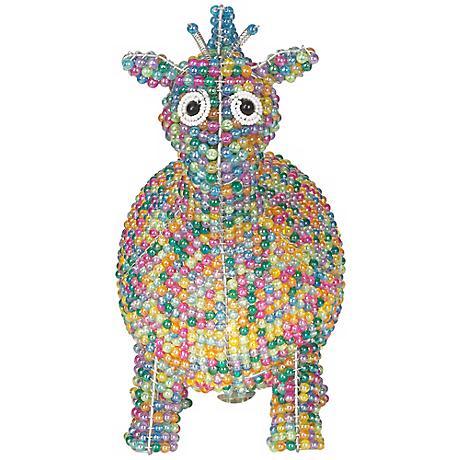 Beadworx Giraffe Hand-Crafted Beaded Night Light
