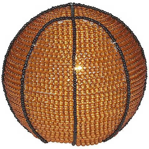 Beadworx Basketball Hand-Crafted Beaded Night Light