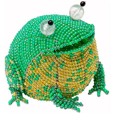 Beadworx Frog Hand-Crafted Beaded Night Light