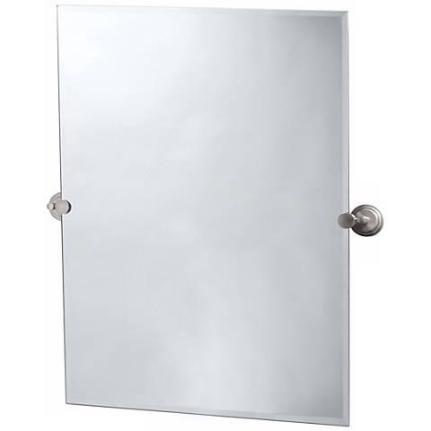 "Gatco Marina Satin Nickel 31 1/2"" High Tilt Wall Mirror"