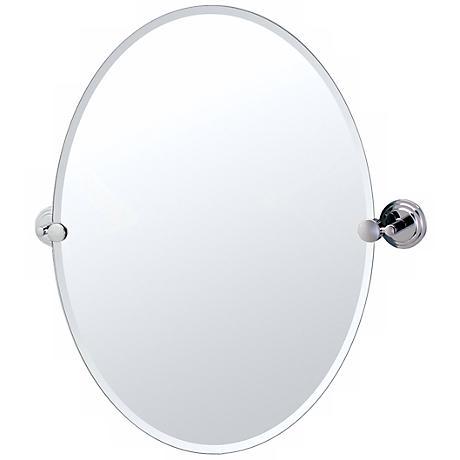 """Gatco Marina Chrome Oval 26 1/2"""" High Tilt Wall Mirror"""