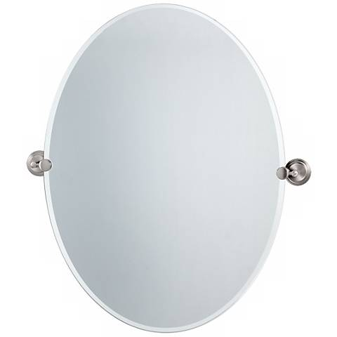 "Gatco Marina Satin Nickel 28 1/2"" High Tilt Wall Mirror"