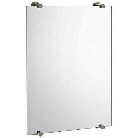"Gatco Latitude 2 Satin Nickel 32"" High Wall Mirror"