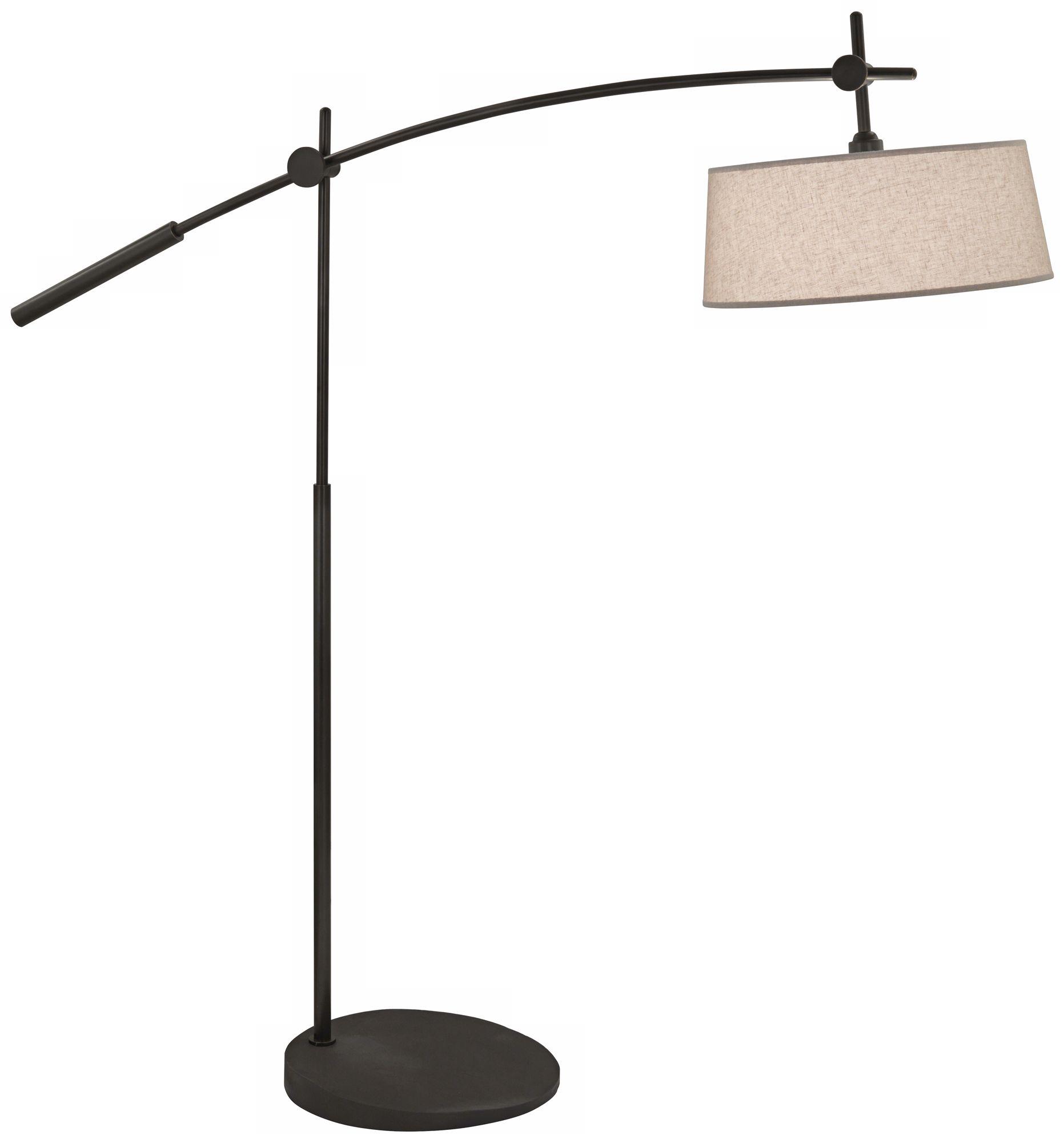 rico espinet miles 2light boom patina bronze floor lamp - Arc Lamps