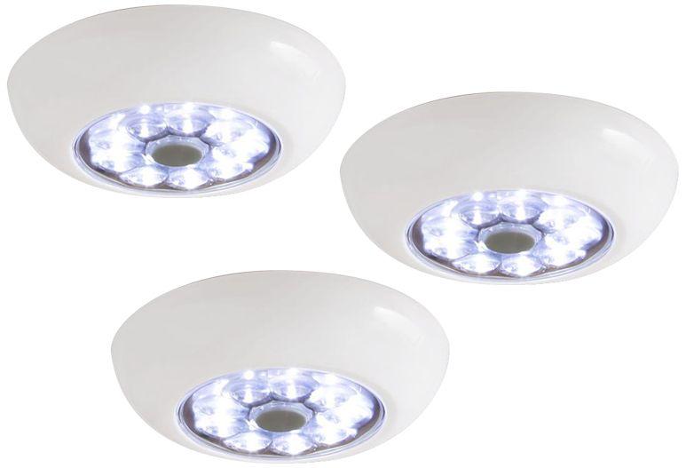 set of 3 fulcrum anywhere light xb led puck lights - Led Puck Lights
