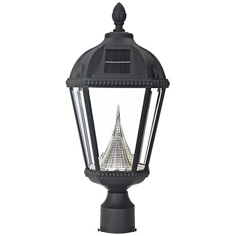 "Royal Solar LED Black 20 1/2"" High Outdoor Post Light"
