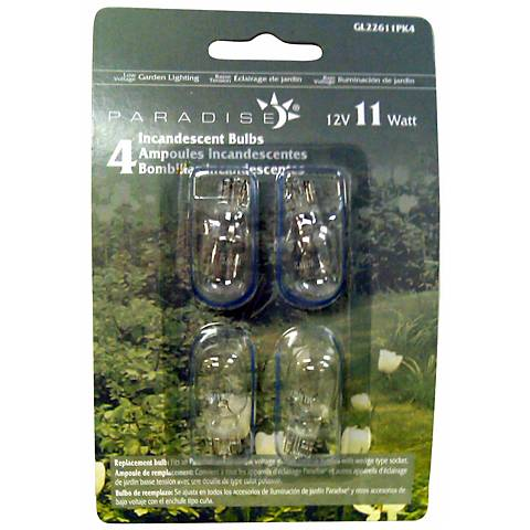 Wedge Pack of 4 12-Volt 11 Watt Light Bulbs