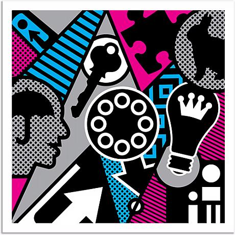 """Pop Psychology 25"""" Square Giclee Wall Art Poster"""