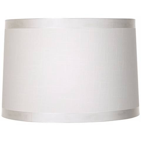 Off White Fabric Drum Shade 15x16x11 (Spider)