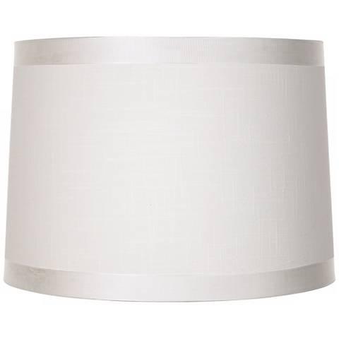 Off White Fabric Drum Shade 13x14x10 (Spider)