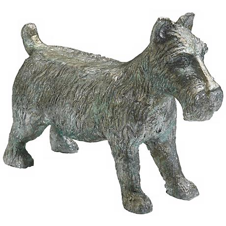 """Pewter Finish Collectible Large 6"""" High Scottie Dog Token"""