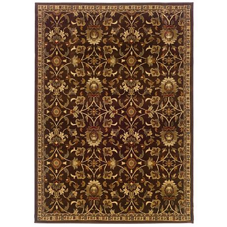Riverwoods Collection Wind Carpet Brown Area Rug