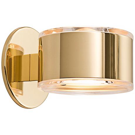 """Holtkoetter Up-Down 5 1/4"""" Wide Polished Brass Wall Sconce"""